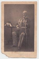 CDV-GENERALE PIEMONTESE IN POSA 1860 CIRCA-CARABINIERE REALE CAVALLEGGERI