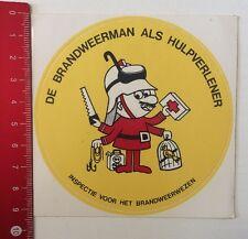 Aufkleber/Sticker: De Brandweerman Als Hulpverlener (16051645)