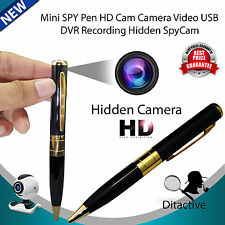 NUOVO MINI SPY PEN HD CAMERA VIDEO USB DVR Video Registrazione Nascosta Spy Cam 32GB UK