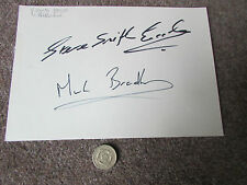 Steve SMITH ECCLES & Mark BRADBOURNE  Original  Horse Racing Hand SIGNED page