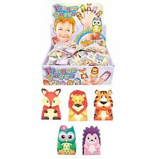 Childrens 5 Finger Puppet Animals Xmas Stocking Party Bag Fillers Kids Toys