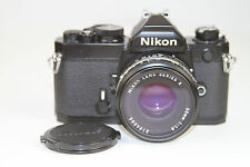 VTG Nikon FM 35mm SLR Film Camera with Nikon Series E 50mm f1.8 Lens All Black