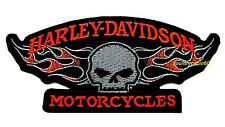 HARLEY DAVIDSON WILLIE G FLAMING SKULL VEST PATCH