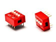 INTERRUTTORE DIP SWITCH 4 contatti 4 posizioni commutatore DIl pin 2.54mm CS