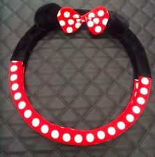 NEW Listing Winter Plush Minnie Mouse Car Steering Wheel Cover