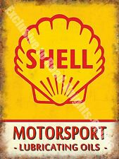 Vintage Garage 172  Motor Racing Oil Petrol Old Advertising Large Metal/Tin Sign