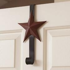 Over The Door Burgundy 5 Point Star Double Wreath Holder, Hanger