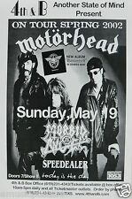 MOTORHEAD / MORBID ANGEL 2002 SAN DIEGO CONCERT TOUR POSTER - Heavy Metal Music