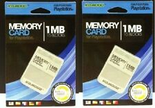 2 NEW MEMORY CARDS  FOR THE PLAYSTATION 1 SYSTEM