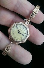 Vintage 1913 A.LECOULTRE Women' Wrist/pocket/pendant Watch Gold Filled 15 Jewels