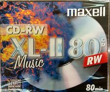 10 X MAXELL CD-RW AUDIO MUSIC RE-WRITEABLE CDRW XL-II