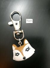 A Cartoon Fox face Charm Keyring, Key Chain Handbag, Bag Charm Zip Puller