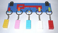 CUSTOM LEGO KEY HOLDER RACK-USE YOUR OWN MINI FIGURE-WALL MOUNT- KEYCHAIN GIFT
