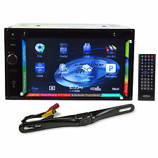 "Jensen VX7020 6.2"" Double Din Navigation GPS DVD Receiver+License Plate Camera"