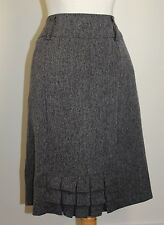 "NEW Dressbarn ""the back french pleat"" Woven Charcoal Pencil Skirt Sz 14"