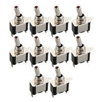 10x Kippschalter Schalter 20A 12V Ein/Ausschalter mit LED Anzeige NEU DE