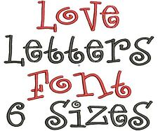 Love Letters Alphabet Embroidery Fonts Machine Embroidery Design IMPFCD13