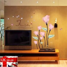 Pink Flower calla lily DIY Art Wall Stickers Decal Mural Home Living room