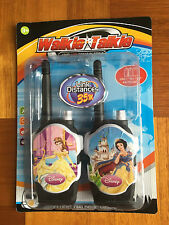 DISNEY PRINCESS ELECTRONIC WALKIE TALKIE PLAYSET LINK DISTANCES 35M CHILDREN TOY