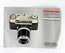 Zeiss Ikon Voigtlander Contarex Super Sales Brochure - 24 pages - Nov. 1967