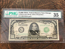 1934 A $1000 Federal Reserve Note 2212-G Thousand Dollar Bill PMG 35