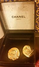 Chanel clip earring with bling