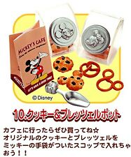 Re-ment Disney Mickey 50's cafe #10-cookies jars pretzel w/paper bag set