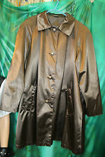 "Ladies Bronze ""NEW AGE"" Polyester satin rubber backed  sexy rubbery raincoat"