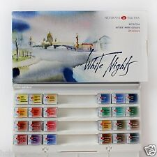 WHITE NIGHTS WATERCOLOUR 24 colours Artists Paint Set Russian Nevskaya palitra