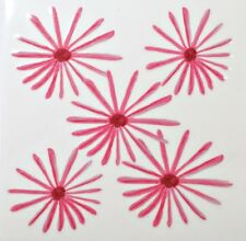 Pink Daisy Rub On Transfer Decal Glass Tiles Ceramic Plastic DT117