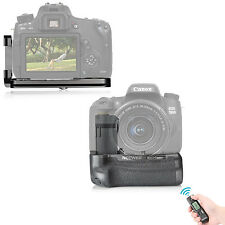 Remote Control Battery Grip+L-Plate Hand Grip for Canon 750D/T6i 760D/T6s