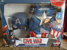 NEW Captain America Civil War Deluxe Child's Costume Top Set with Mask- S (4-6)