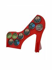 Red High Heel 9 K Cup Dispenser Coffee  Keurig & tree pod holder Acrylic