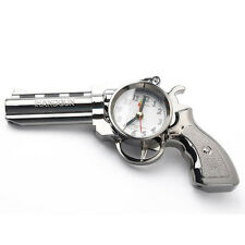 Novelty Pistol Gun Shape Alarm Clock Desk Table Home Office Decor Gifts LW
