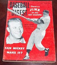 Baseball Digest July 1956 Mickey Mantle