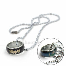 Sword Art Online Color Changing Ring Necklace Emotion Feeling Anime Pendant New