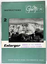 Original GaMi 16 Manual for Enlarger, 4 pages, no print date