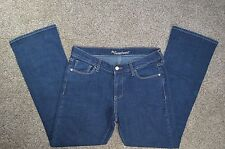 Old Navy The Sweetheart Womens Wide Leg Denim Dark Blue Jean Size 4S Short