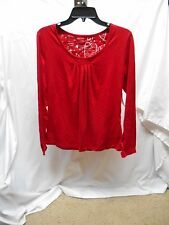NWT Fashion Bug cotton blend red sleepwear sleep shirt top women's size small