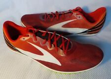 Brooks Mach 17 Spike Size 13 Medium  High Risk Red Running Cleat