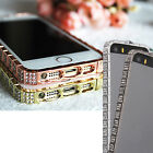 New Luxury Bling Diamond Metal Frame Bumper Case Cover For iPhone 5 5S 6 6 Plus