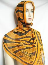 ITALY Moschino Cheap and Animal Chic SETA Silk 51x162 Women Scarf Wrap Shawl NEW