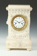 ALABASTER MANTLE CLOCK WITH GILT ORMOLU MOUNT, 19th Century, Nichola... Lot 1087
