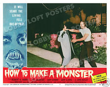 HOW TO MAKE A MONSTER LOBBY SCENE CARD # 4 POSTER 1958 GARY CONWAY FRANKENSTEIN