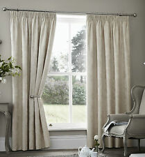 Palermo Pencil Pleat Thermal Curtains Choice of Colours Cream Silver or Taupe