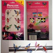 Lot of 24 Packs - Papillion 3D Pop-Up Fairy Stickers + FREE SHIPPING!