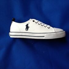 KIDS RALPH LAUREN LEATHER TRAINER AVAILABLE  WHITE RRP£65/69 NOW £29.50 EACH