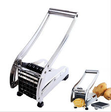 2015 Stainless Steel French Fry Cutter Potato Vegetable Slicer Chopper 2 Blades