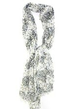 LADIES WHITE/ ABSTRACT THEME  PAINT SPLATTER STYLE SCARF WINTER WEAR (MS9)