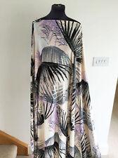 Lavender Dawn Swaying Palm Leaf Print Stretch Jersey Dressmaking Fabric